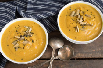 Curried Golden Beet Carrot & Parsnip Soup